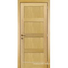 Unfinished interior room modern design oak veneered wood panel door design