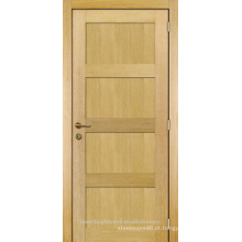 Carvalho de design moderno quarto interior inacabado folheada projeto de porta de madeira do painel