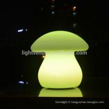Usine d'OEM pour lampe de table led bar décoration maison intérieure de Noël rechargeable en forme de champignon a mené la lumière de bureau