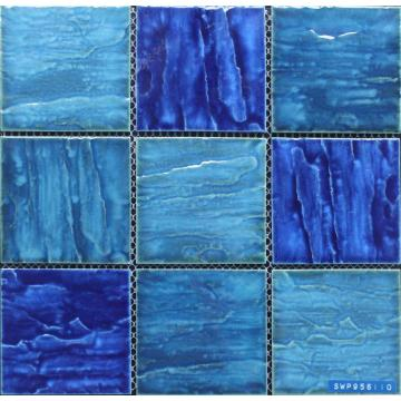 BLUE PORCELAIN SWIMMING POOL MOSAIC