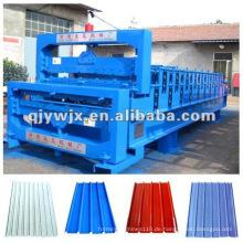 Vorwärts Doppeldeck Metalldachblech / Paneel Roll Formmaschine