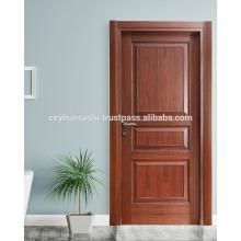 WPC Frame and Jamb Pvc Coated Molded Waterproof Interior Door