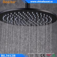 Cabezal de ducha de 12 plg. Ss304 Round Black Rainfall de alto flujo