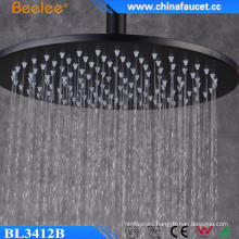 12 Inch Ss304 Round Black Rainfall High Flow Shower Head