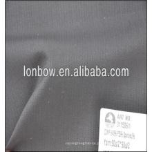 cinza escuro muito pequeno verificar lã e poliéster mistura de tecido liso para terno formal peso 260g / m
