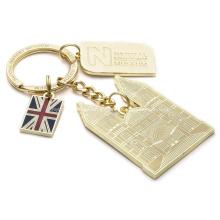 Porte-clés en métal en forme de papillon animal personnalisé