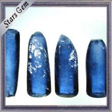 Matière première bleue de synthétique de saphir de saphir # 34