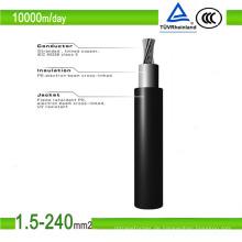 6mm 2 schwarz ummantelt PV1-F DC Solarkabel (TÜV zugelassen)