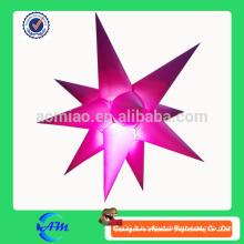 Produit d'éclairage insonorisant gonflable étoile personnalisé gonflable led éclairage star