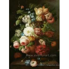 Peinture à l'huile de fleur aux marguerites à la main classiquement peinte à la main