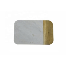 Mármol blanco natural y tablero de queso combinado de madera