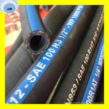 Tuyau hydraulique tressé de fibre de haute qualité SAE 100 R3
