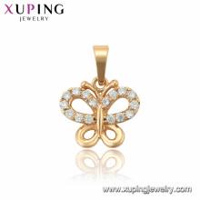 33864 xuping pendentif papillon plaqué or 18 carats