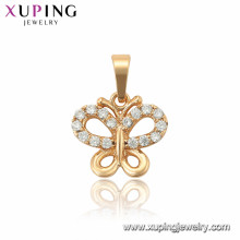 33864 xuping 18k gold plated fashion butterfly pendant