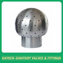 Sanitary male threaded Fixed cleaning ball