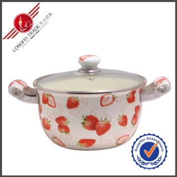 Durable Eco-Friendly Enamel Cookware Stewing Pot