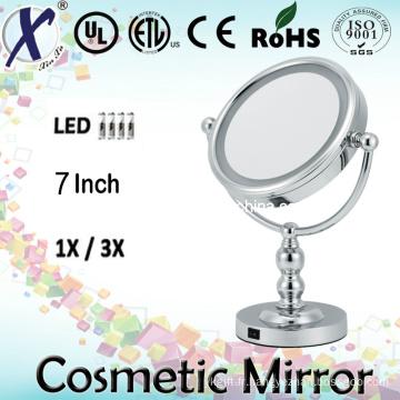 7′′ Double face LED salle de bain miroir