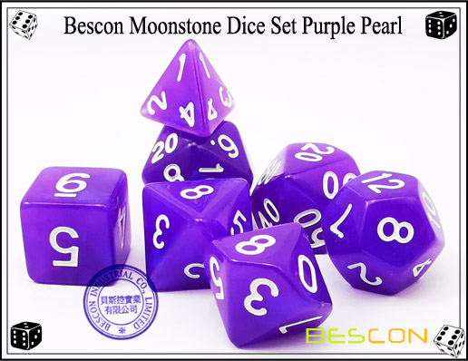 Purple Pearl Dice Set-2