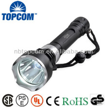 2*18650 battery high power led underwater diving flash light