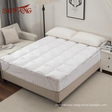Down feather filling fluffy and warm waterproof mattress pad / anti dust mattress cover&pad