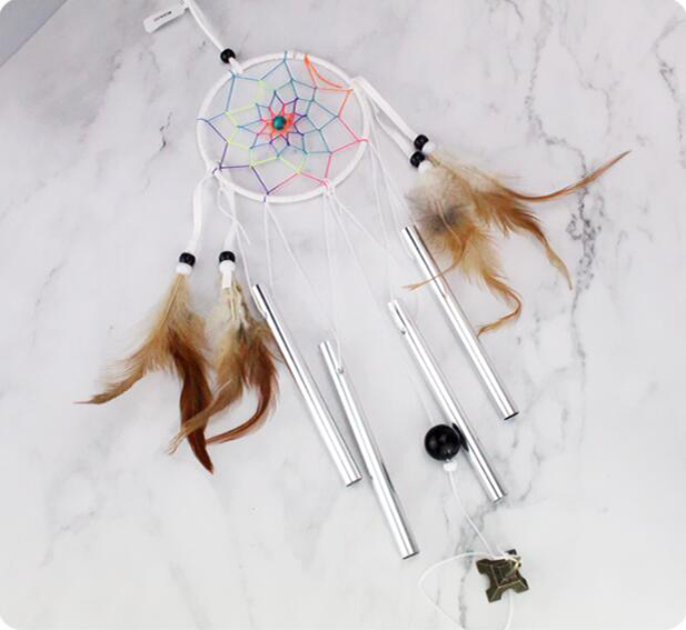 Catcher Dream Handmade Feather Pendant Wind Chime