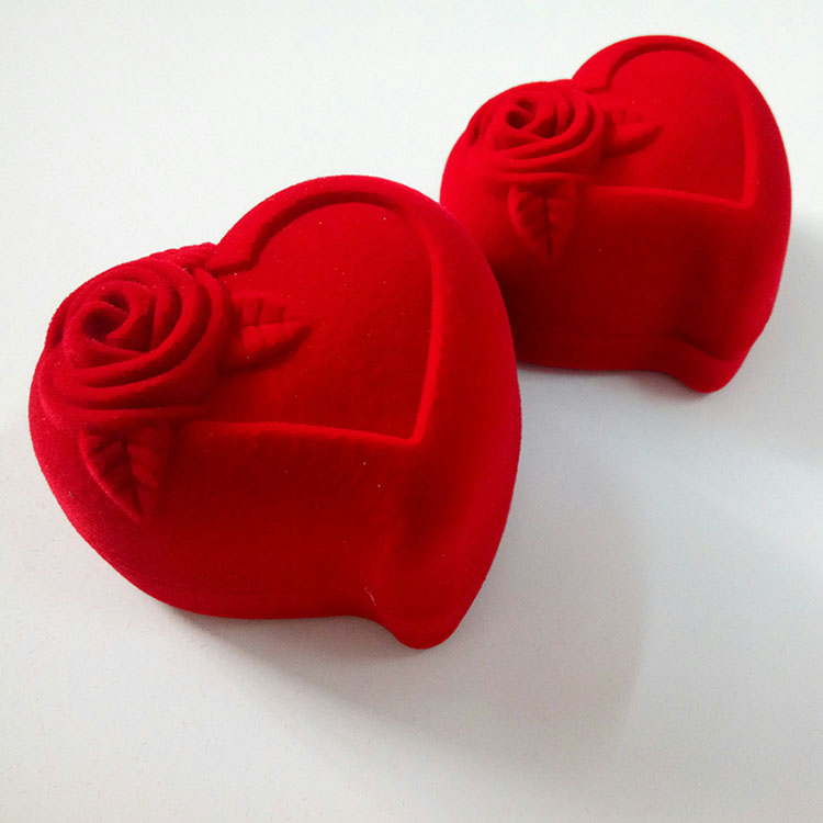 Red Heart Design Ring Packaging Boxes for Sale