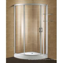 Aluminiumprofil-Glasduschtür mit Shampoo-Regal