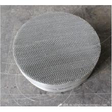 Strukturierte Verpackung aus Metalldrahtgewebe