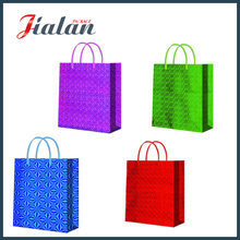 Different Color Film Blank No Logo Holographic Paper Shopping Bag