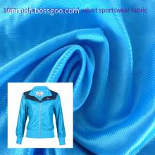 100% polyester mercerized velvet sportswear fabric