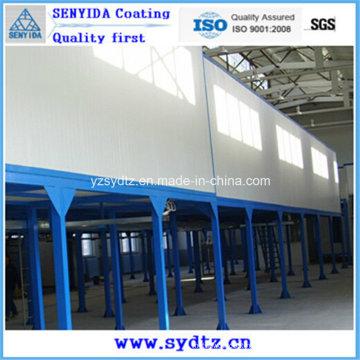 Máquina de pintura a pó / linha de pintura (sistema de secagem por umidade e sistema de cura em pó)