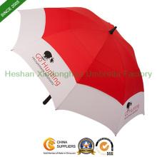 """68 """"arc en fibre de verre coupe-vent Double baldaquin parapluies de Golf (GOL-0034FDA)"""