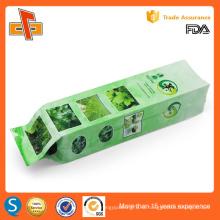 УЛХ одобрил пользовательские печать китайской стороне gusset пустой зеленый чай мешок упаковки