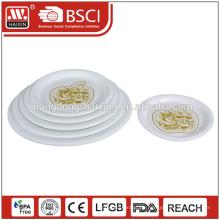 flache Teller, billige weiße Teller für Restaurant Catering