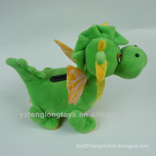 Plush dinosaur coin box money box