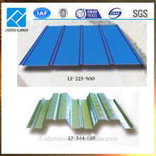 Hojas de techo de aluminio Precio por hoja para techo de casa para la fábrica