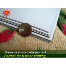Carte recto verso avec papier arrière gris