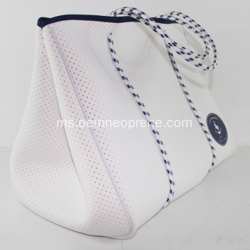 White Ladies Neoprene punch beach bag
