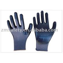 Нитрила покрытием перчатки собрания