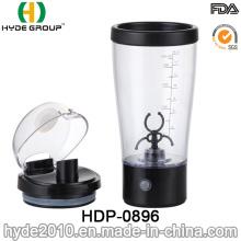 Botella eléctrica negra de la coctelera de la proteína 450ml, botella plástica barata al por mayor de la coctelera de vórtice (HDP-0896)