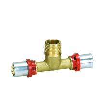 "Ktm ""Th"" Tipo de Tee Masculino (Press Fitting) (Hz8507) para Tubo de Plástico e Tubo de Plástico de Alumínio"