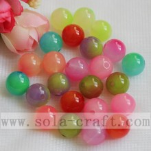 Brilliant Double Colored Vanished Loose Beads for Decoration
