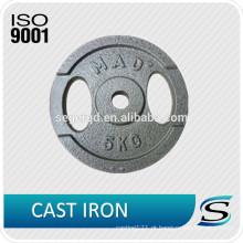 prato de peso de ferro fundido 10lbs 5kg
