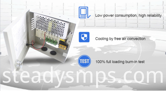 9 channel cctv power supply