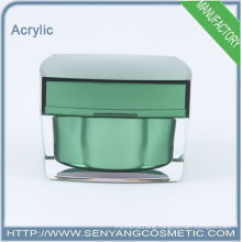 2015 new square luxury packaging jars wholesale cosmetic acrylic packaging acrylic cream jar for skin care
