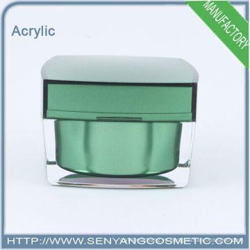 2015 новых квадратных роскошных упаковочных банок оптовой косметической акриловой упаковки акриловой кремовой банки для ухода за кожей