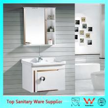 european style bathroom corner vanity with mirror cabinet