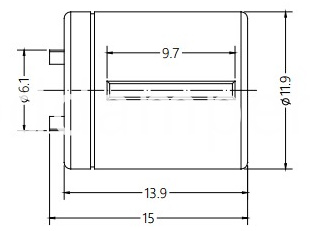 Door Lock Handle Damper Drawing of DY12C
