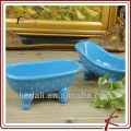Blue color oval shape ceramic mini bathtub