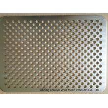 Malha de aço de metal perfurado de alumínio revestido de PVC